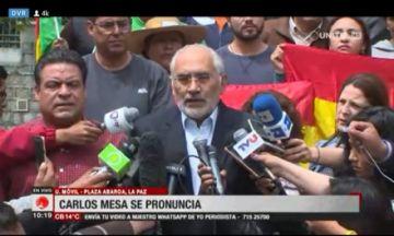 Mesa exige que Evo y Álvaro no participen de nuevas elecciones