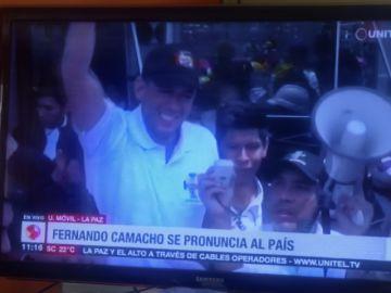 """Camacho llama a conformar una """"junta de gobierno transitorio"""" y pide renuncia colectiva"""