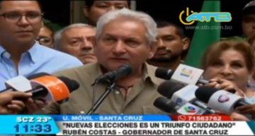 Rubén Costas pide la dimisión de Evo