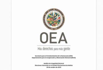 OEA recomienda nuevas elecciones con nuevas autoridades electorales