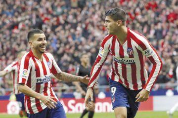 El Atlético de Madrid es salvado por Morata