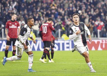 """Dybala le da el liderato a la """"Juve"""" a costa del Milan"""