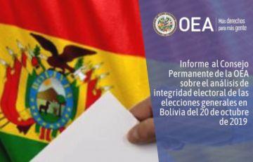 OEA: Informe integral de las elecciones del 20 de octubre reitera irregularidades
