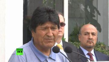 Evo Morales ya está en suelo mexicano y dice que la lucha sigue