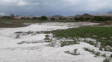 Familias de Villa Charcas son afectadas por fuerte granizada