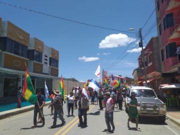 Marcha en Zudáñez pide que cesen los bloqueos en Chuquisaca