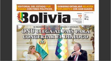 """Cambio: El diario del Estado ahora se llama """"Bolivia"""""""
