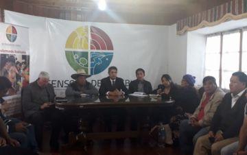 En marcha el diálogo entre dirigentes cívicos y trabajadores campesinos