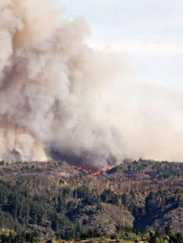Incendios consumen el centro de Chile