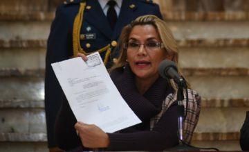 Presidenta Áñez presenta proyecto de ley para convocar a nuevas elecciones