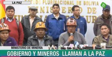 Gobierno y sector minero se acercan y llaman a la paz