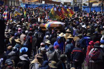 Parte marcha de Senkata hacia La Paz