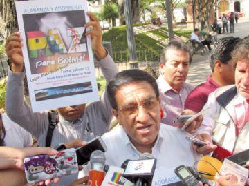 Dos iglesias orarán por la pacificación del país