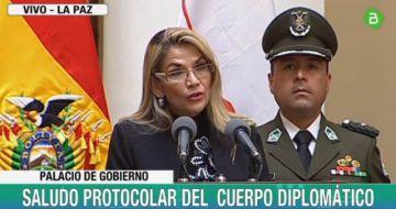 Diplomáticos reconocen a Áñez y ella pide su acompañamiento
