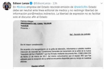 Relator de la CIDH condena rescisión de Entel con Telesur y pide Estado neutral