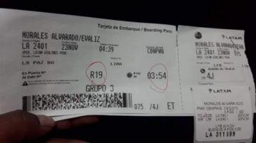 Hijos de Evo Morales abandonaron el país esta madrugada