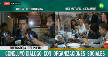 Hay acuerdo en Cochabamba e instruyen levantar bloqueos