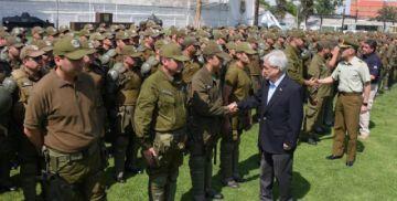 Chile confía a su Ejército resguardo de seguridad