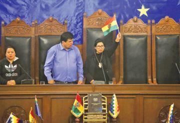 Eva Copa, la conciliadora del MAS que facilitó las nuevas elecciones