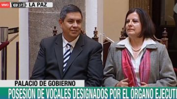 Áñez designa a vocales electorales departamentales de Cochabamba y La Paz