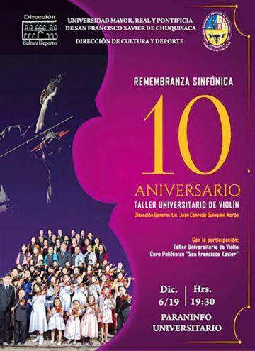 Taller de violín celebra 10 años con un concierto