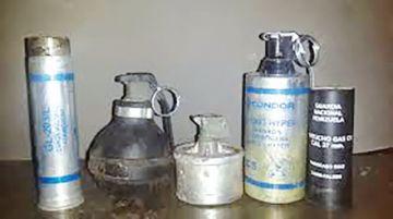 Autorizan compra de gases antidisturbios