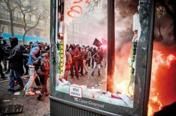 Francia: Protestas  marcan la tercera jornada de huelga