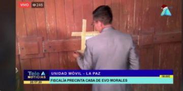 Allanan y precintan una casa de Evo en la ciudad de La Paz