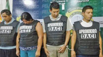 Desarticulan banda ligada al narcotráfico