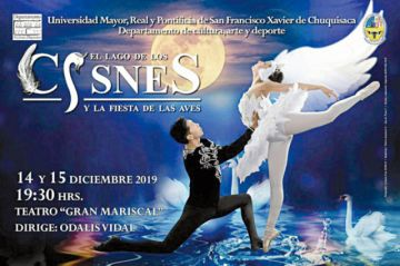 Espectáculo de aves con Ballet Clásico de USFX