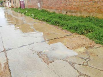 Vecinos piden sellado de calle para evitar más daños en losas