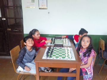 Prueba navideña de ajedrez