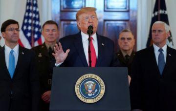 Trump anuncia nuevas sanciones económicas a Irán tras ataque a fuerzas estadounidenses