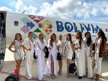 Amaszonas transporta a las candidatas a Reina Hispanoamericana