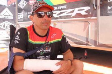 """""""Chavo"""" Salvatierra se fractura una mano y abandona el Rally Sudamericano"""