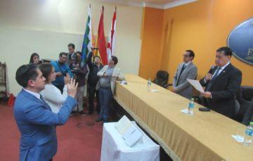 Lanchipa posesiona a nuevos fiscales departamentales de La Paz y Tarija