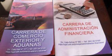 U: Administración Financiera y Comercio Exterior ofertan plazas para segunda vuelta