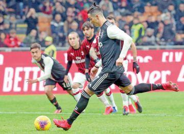 CR7 da a la Juve un empate 1-1 ante el Milan