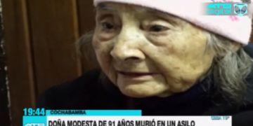 Anciana abandonada por sus familiares fallece en un asilo