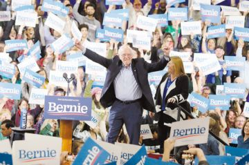 Bernie Sanders, de 78 años cautiva el voto de los jóvenes