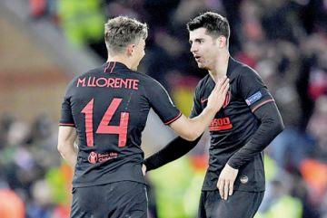 Atlético Madrid  y PSG, a cuartos de la Champions