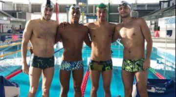 Nadadores ecuatorianos varados en Cochabamba