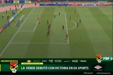 Bolivia debuta con una victoria en amistoso virtual
