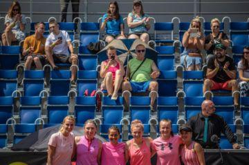 El torneo benéfico de tenis en Praga, con público y sin mascarillas