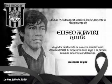 """Fallece a los 63 años Eliseo """"Chancho"""" Ayaviri, exídolo de The Strongest"""