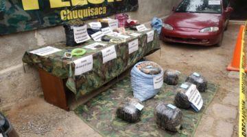 Incautan cerca de 20 kilogramos de marihuana en Chuquisaca