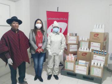 Covid-19: Laboratorios IFA dona medicamentos a los indígenas de Qhara Qhara