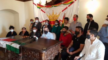 """Cívicos denuncian """"red criminal"""" en torno a Lanchipa y piden su aprehensión"""