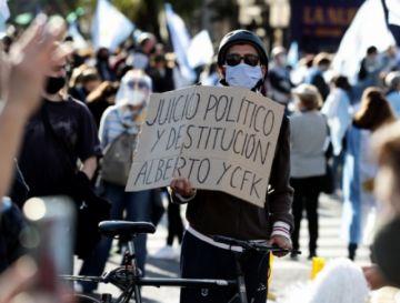 Protestas en calles de Argentina contra el Gobierno y la cuarentena