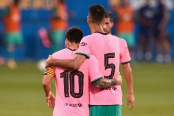 El Barcelona gana 3-1 al Girona en amistoso con doblete de Messi